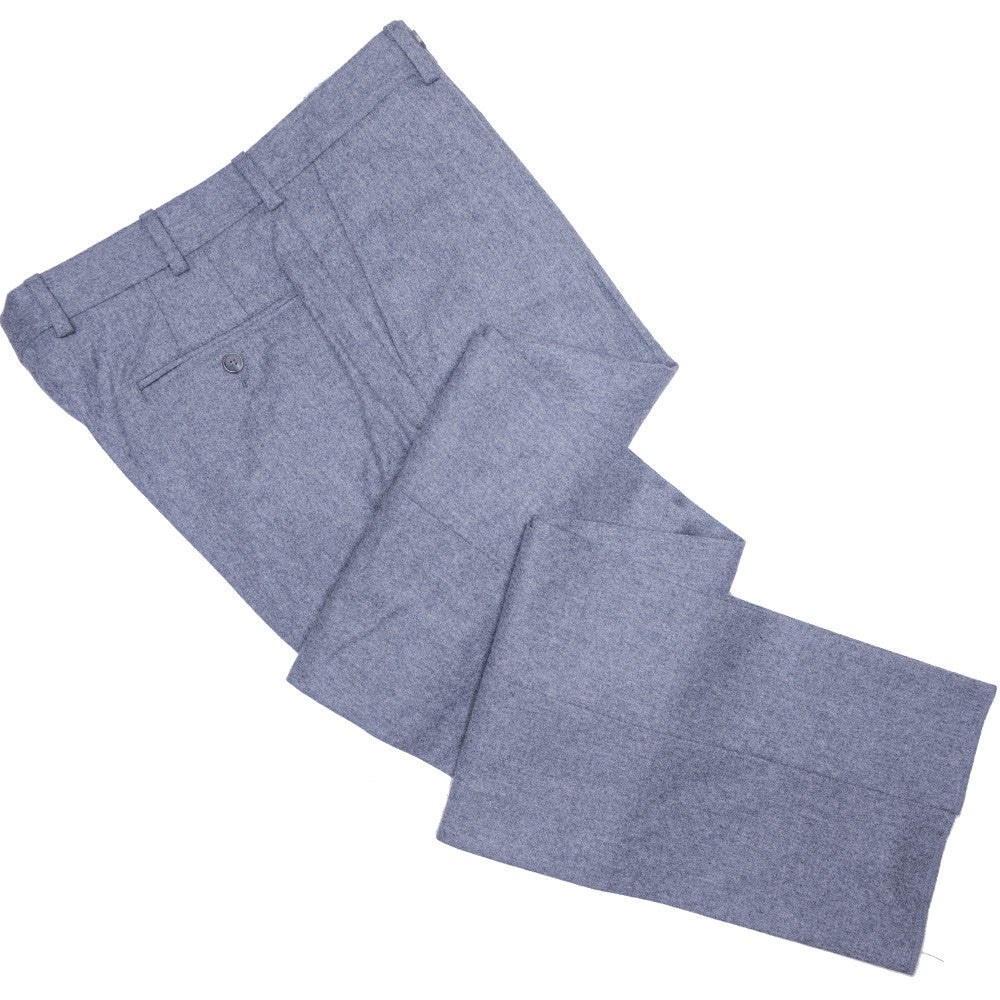 Lambswool Flannel Pants - Mid Gray