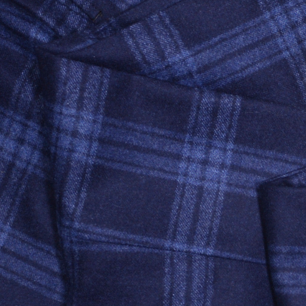 Navy and Blue Plaid Flannel Pants