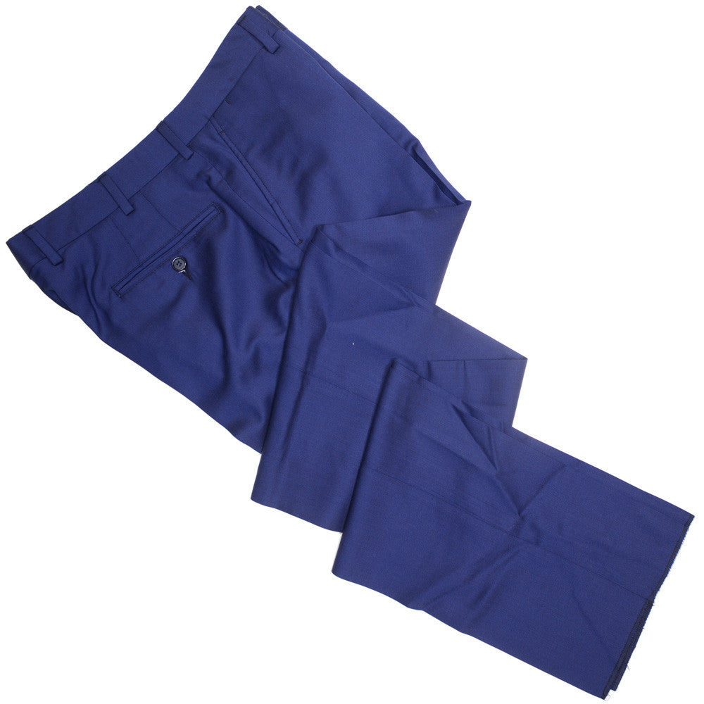 Tropical Wool Pants - USA - Bright Blue