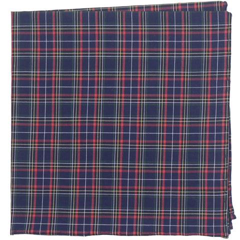 Cotton Square - Navy and Red Plaid