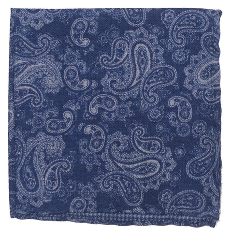 Wool Double Sided Square - Blue