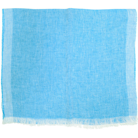 Linen Scarf - Turquoise Blue