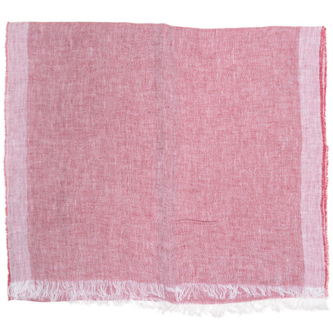 Linen Scarf - Red