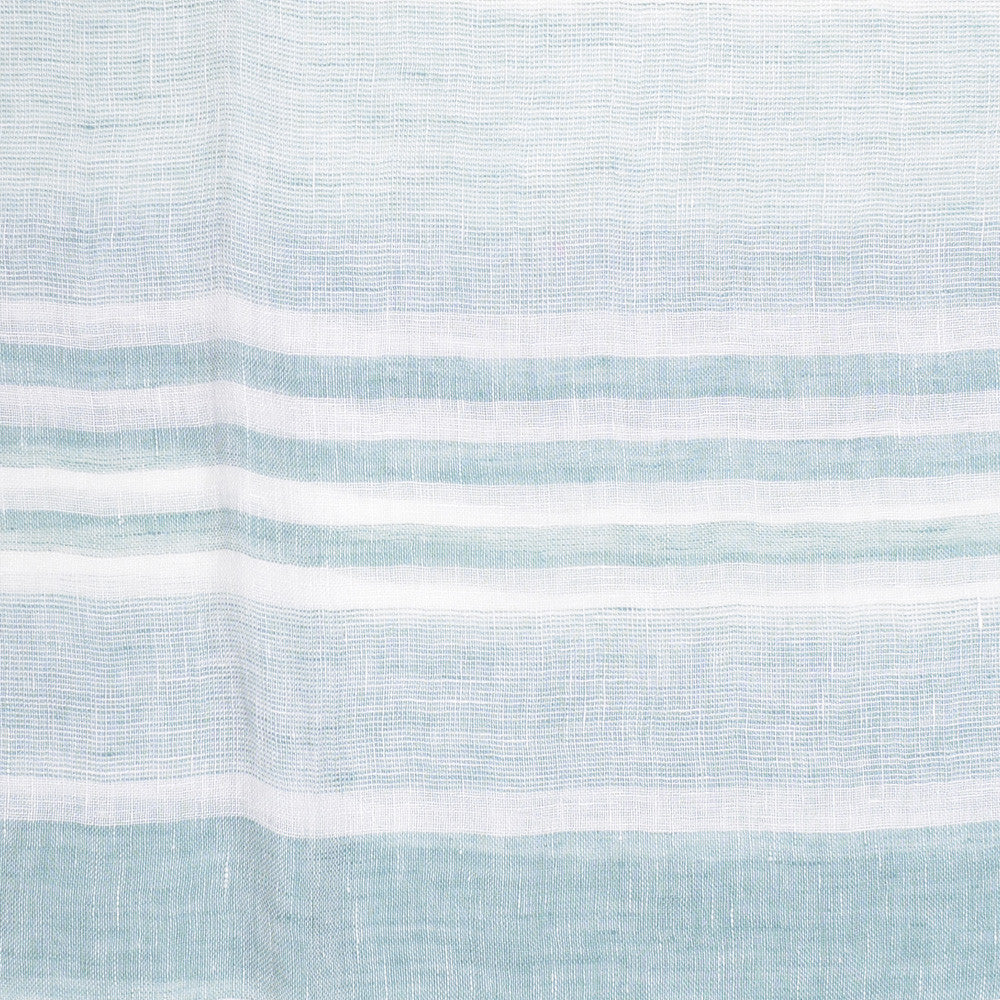 Stripe Linen Scarf - White and Green