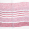 Stripe Linen Scarf - White and Red