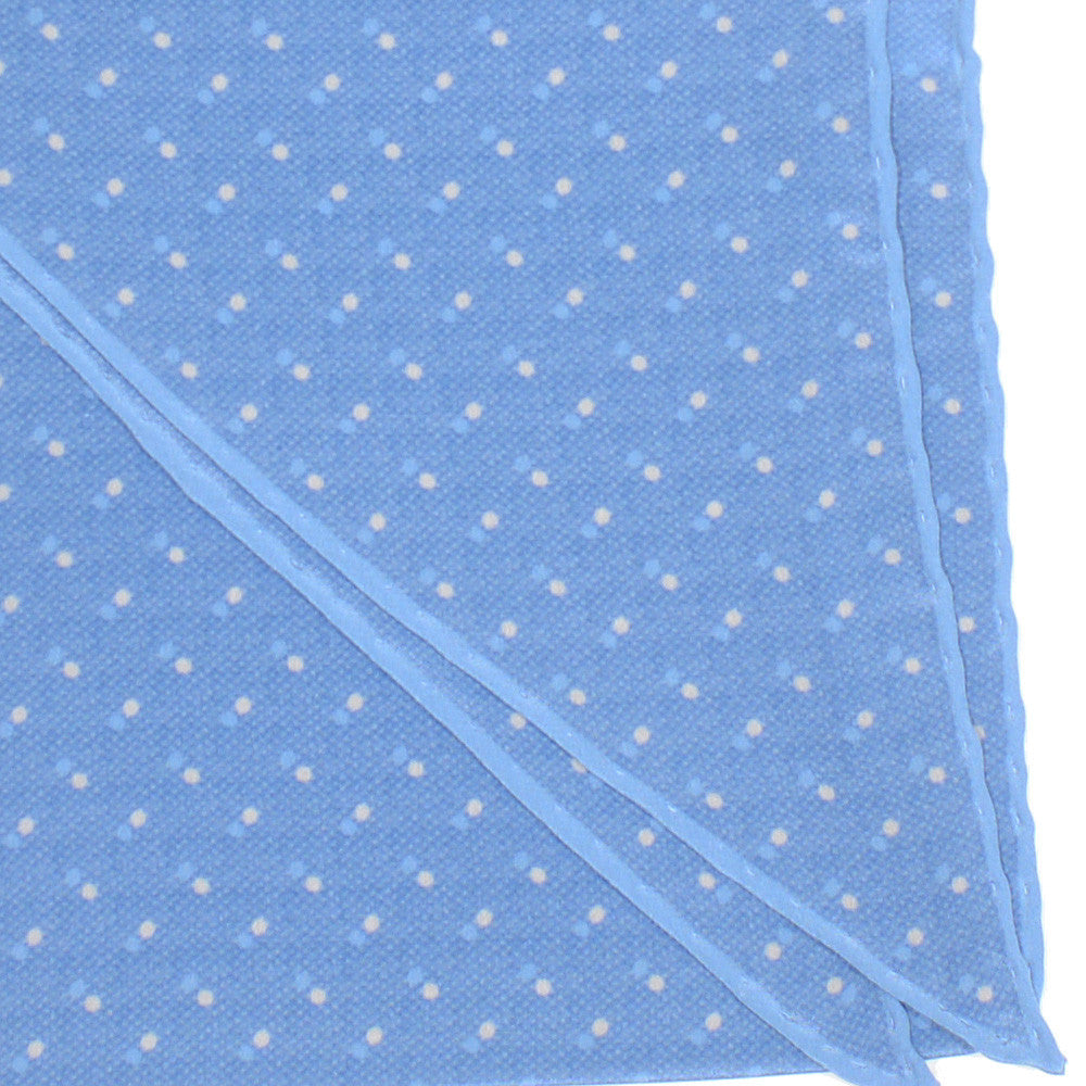 Silk Neckerchief - Light Blue Dots