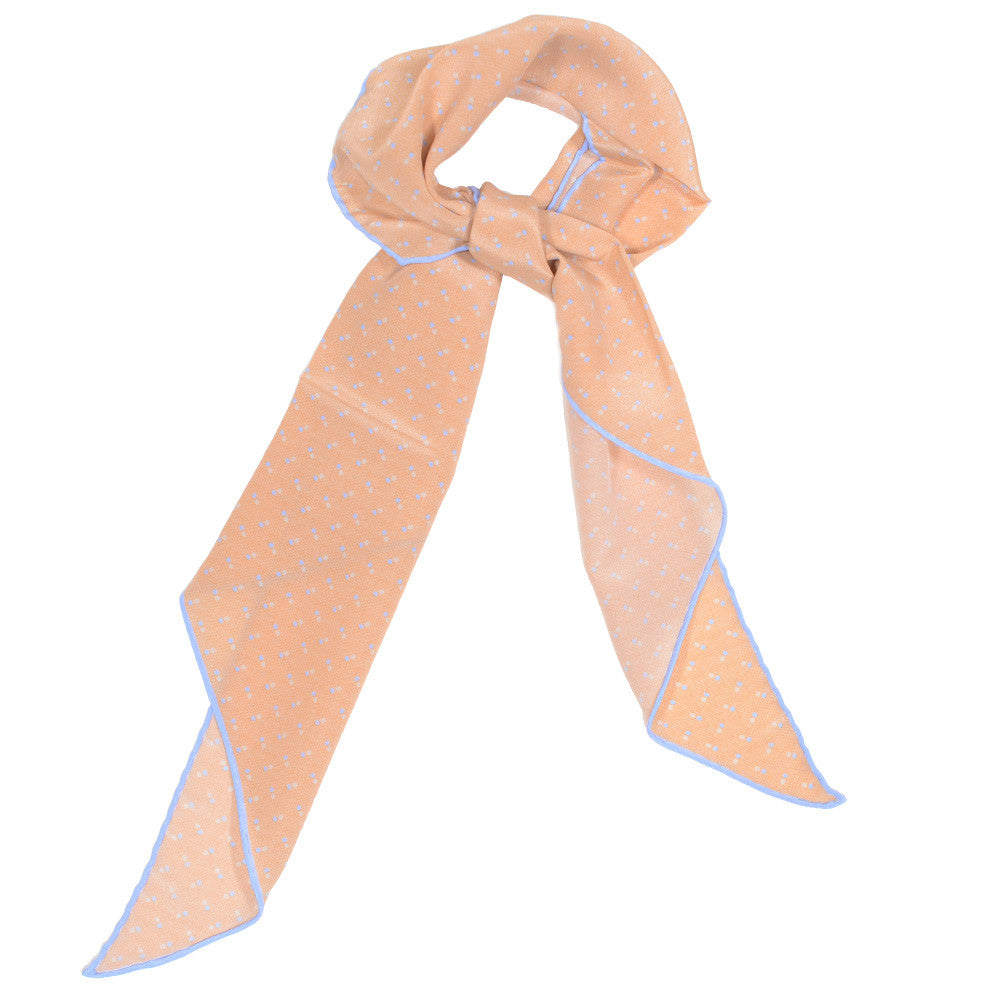 Silk Neckerchief - Orange Dots