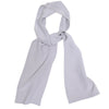 Slim Silk Tubular Scarf - Gray Dots