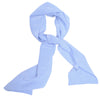 Slim Silk Tubular Scarf - Light Blue Dots