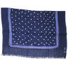 Printed Circles Big Wool Scarf - Blue
