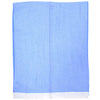 Wool and Cashmere Herringbone Scarf - Blue
