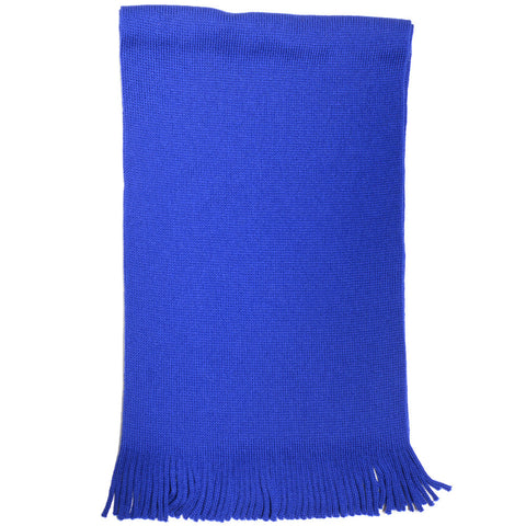 Wool Knit Scarf - Bright Blue