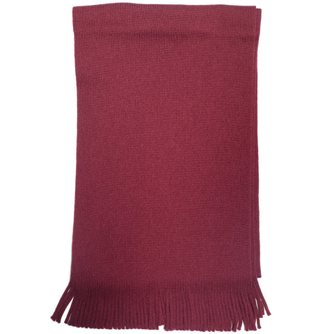 Wool Knit Scarf - Red