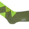 Argyle Cotton Calf Socks - Green