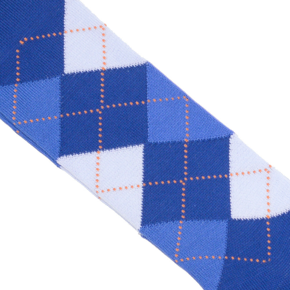Argyle Cotton OTC Socks - Blue