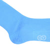 Grenadine Cotton OTC Socks - Light Blue