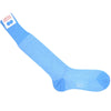 Herringbone Cotton OTC Socks - Turquoise