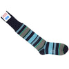 Multicolor Stripe Cotton OTC Socks - Green