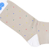 Multicolor Dot Cotton Calf Socks - Tan