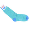 Multicolor Dot Cotton Calf Socks - Turqoise