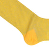Pindot Cotton Calf Socks - Yellow