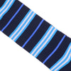 Stripe Cotton Calf Socks - Blue