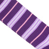 Stripe Cotton Calf Socks - Purple