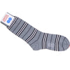Stripe Cotton Calf Socks - Gray