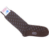 Zebra Cotton Calf Socks - Brown