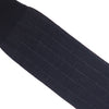 Pinstripe Wool OTC Socks - Black