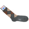 Argyle Wool Calf Socks - Green, Tan and Brown