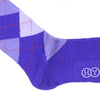 Argyle Wool Calf Socks - Purple