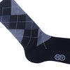 Argyle Wool Calf Socks - Gray