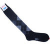 Argyle Wool OTC Socks - Gray