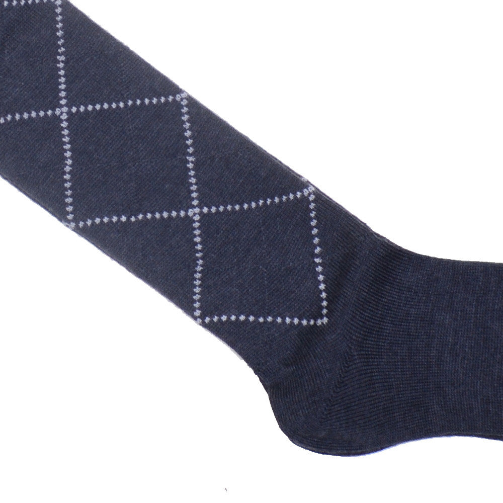 Diamond Wool OTC Socks - Gray