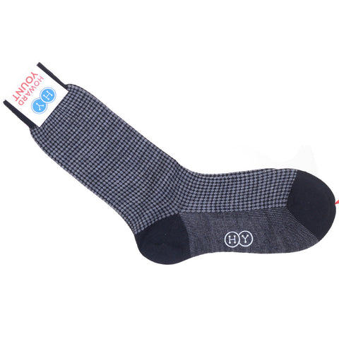 Dots Wool Calf Socks - Dark Gray
