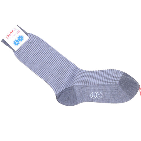 Dots Wool Calf Socks - Light Gray