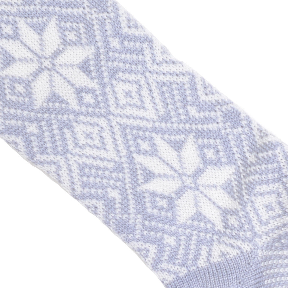 Fair Isle Wool Socks - Light Gray