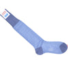 Neat Cell Cotton OTC Socks - Light Blue and Gray