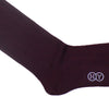 Pinstripe Wool OTC Socks - Burgundy