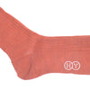 Ribbed Wool Calf Socks - Burnt Orange