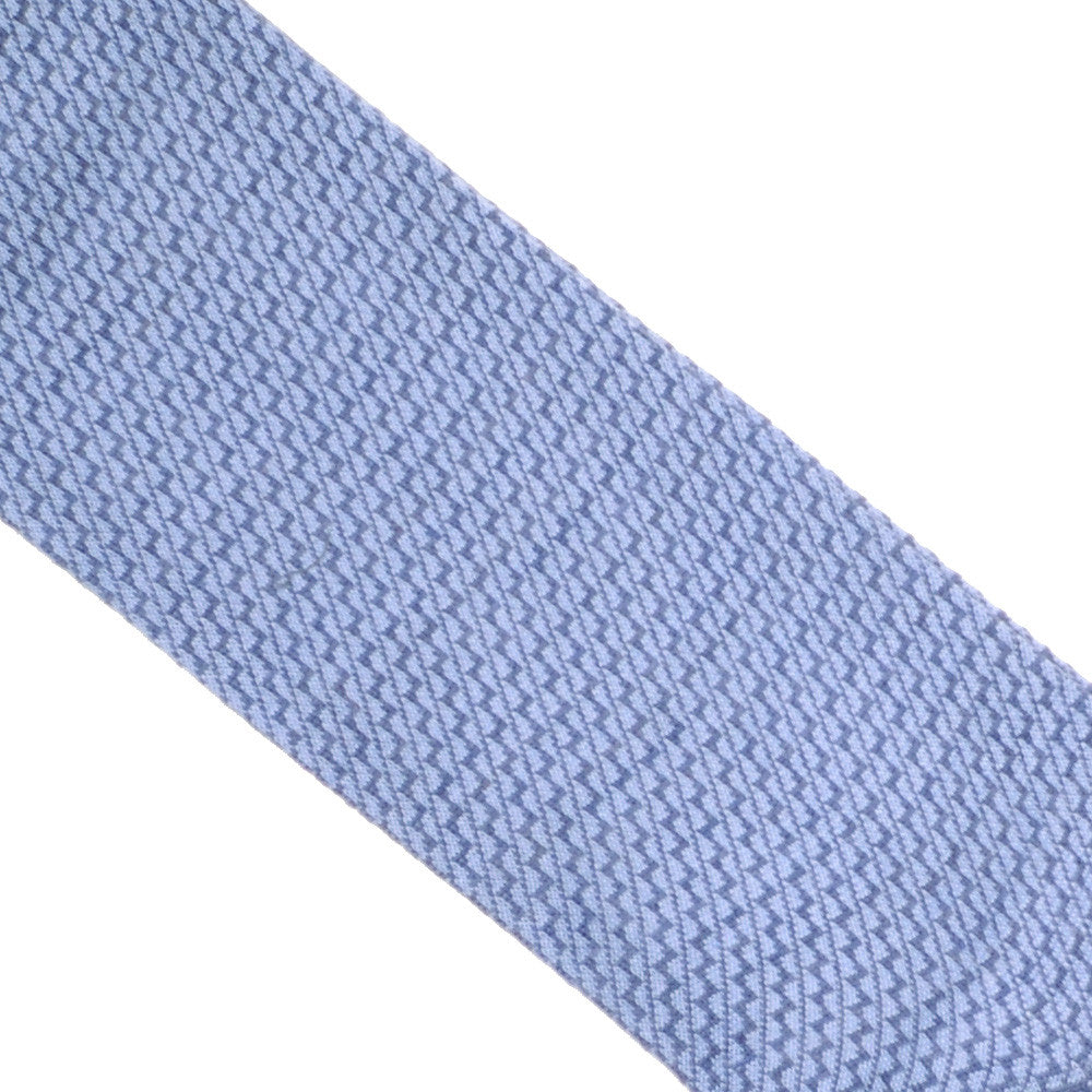 Zigzag Wool Cotton Calf Socks - Light Blue