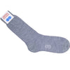 Pindot Wool Calf Socks - Gray and Purple