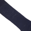 Ribbed Wool Calf Socks - Navy
