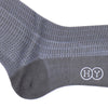 City Grid Cotton Calf Socks - Gray