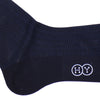 City Grid Cotton OTC Socks - Navy