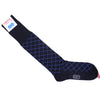 Double Diamond Cotton OTC Socks - Navy