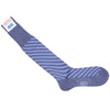 Double Stripe Cotton OTC Socks - Gray and Blue