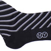 Double Stripe Cotton Calf Socks - Black