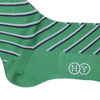 Double Stripe Cotton Calf Socks - Green